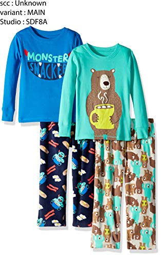 Simple Joys by Carter's Boys' Little Kid 4-Piece Pajama Set, Monster/Bear 6 by Simple Joys by Carter's (Image #1)