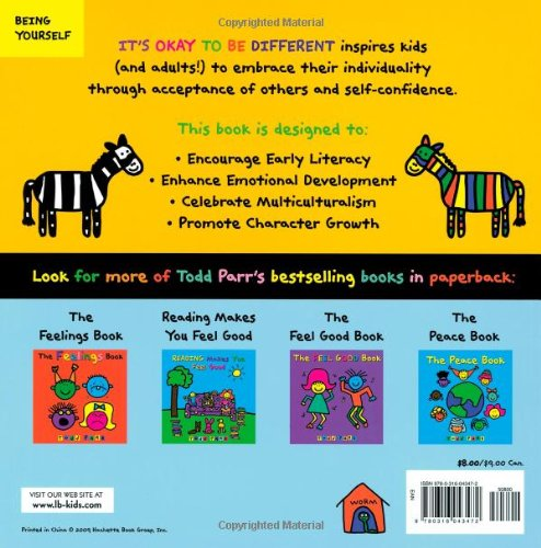 Its Okay To Be Different Todd Parr 8601400302347 Amazon Books
