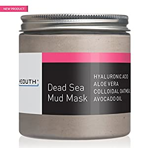 YEOUTH Dead Sea Mud Face Mask, Anti Aging Wrinkles, Blackheads Removal, Pore Size, Breakout Clearing, Anti Aging Facial Treatment, Facial Cleanser for Dry Skin 8oz - GUARANTEED