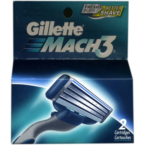 Gillette Mach 3 Razor Refill Cartridges, 2 Count