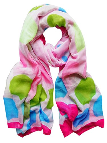 Peach Couture Playful Modern Multicolored Polka Dot Scarf/wrap/shawl - Polka Multi Scarf Dot Colored