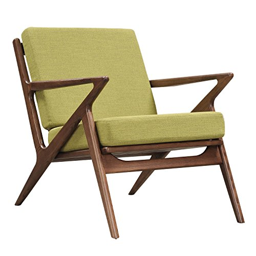 NyeKoncept 224477-B Avocado Green Zain Chair, Walnut for sale  Delivered anywhere in USA