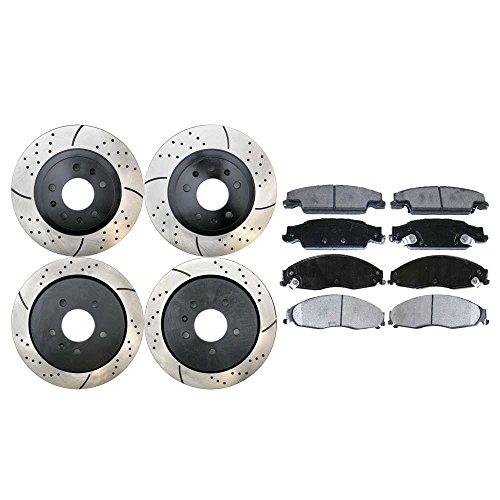 (Prime Choice Auto Parts SCD921PR65100 4 Performance Brake Rotors and 8 Ceramic Brake Pads)