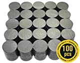X-bet MAGNET ™ - Ceramic Industrial Magnets - 18 mm Round Disc - Ferrite Magnets Bulk for Crafts, Science & hobbies - 100pcs / box!