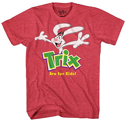 Trix Cereal Are For Kids Silly Rabbit Bunny Funny Adult Mens Graphic T-Shirt Tee Apparel (Large)