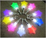 Party Lovers Multi Color Flashing Led Star Hand Light (8 Pieces)