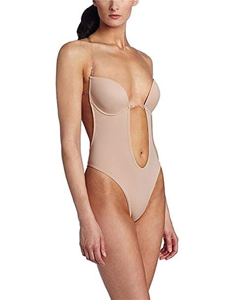Burvogue Mujeres Sin Espalda Tanga para Mujer de Incisión Deep V Body: Amazon.es: Ropa y accesorios