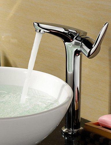 Messing einzigen Handgriff Centerset Waschbecken Wasserhahn (Gro?)-Chrom-Finish