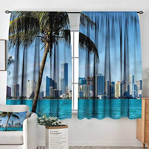 RenteriaDecor Coastal,Room Darkening Curtains Biscayne Buildings in Miami 104