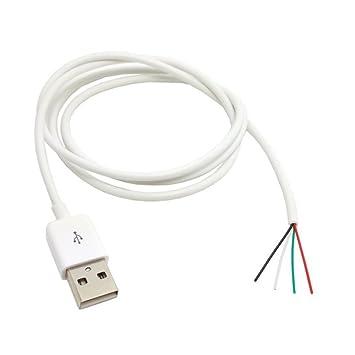 Der USB 2.0 Typ A Stecker auf 4 Drähte Öffnen: Amazon.de: Elektronik