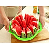 Fruit Stainless Slicer Steel Melon Cutter Multifunctional Handle Divider Fruits Cutting Slicing Corer Kitchen Tools Large Size (green)