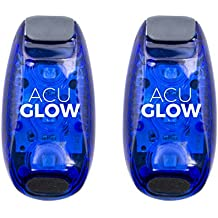 AcuGlow LED Safety Flashing Lights (2 Pack) by Somerset Products | Lightweight Clip/Strap on Design | Attaches in Seconds | Ultra High Visibility | Perfect for Runners, Walking, Children, and Bikes