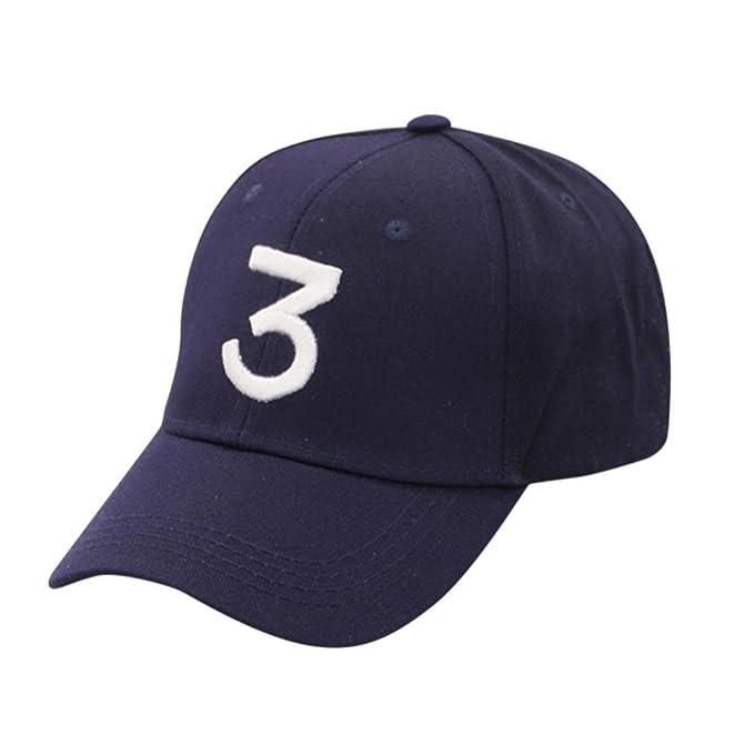 Unisex Gorra de Béisbol Ajustable Vintage,Unisex Vintage Número 3 Sarga de Algodón