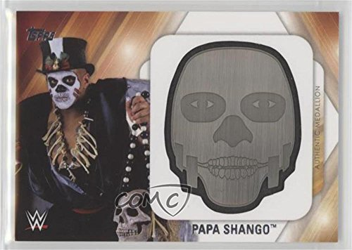 (Papa Shango #5/299 (Trading Card) 2016 Topps WWE Then Now Forever - Mask and Face Paint Medallions #PASH)