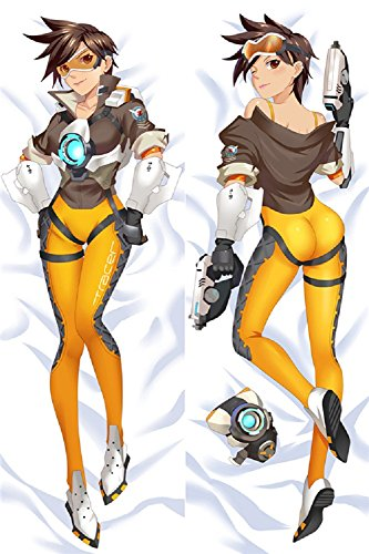 Price comparison product image GB Arts Overwatch Tracer Peach Skin 150cm x 50cm High Quality Pillowcase