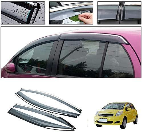 Car Styling Smoke Window Sun Rain Visor Deflector Guard for Toyota Yaris XP90 Hatchback 2008-2013 NOT in Channel rain Guards 4-Piece Set