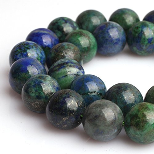- Lapis Lazuli Malachite Beads for Jewelry Making Gemstone Semi Precious 6mm Round 15