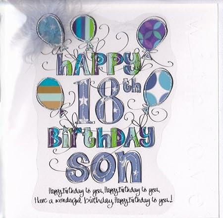 Son 18th birthday card large luxury birthday card amazon son 18th birthday card large luxury birthday card bookmarktalkfo Choice Image