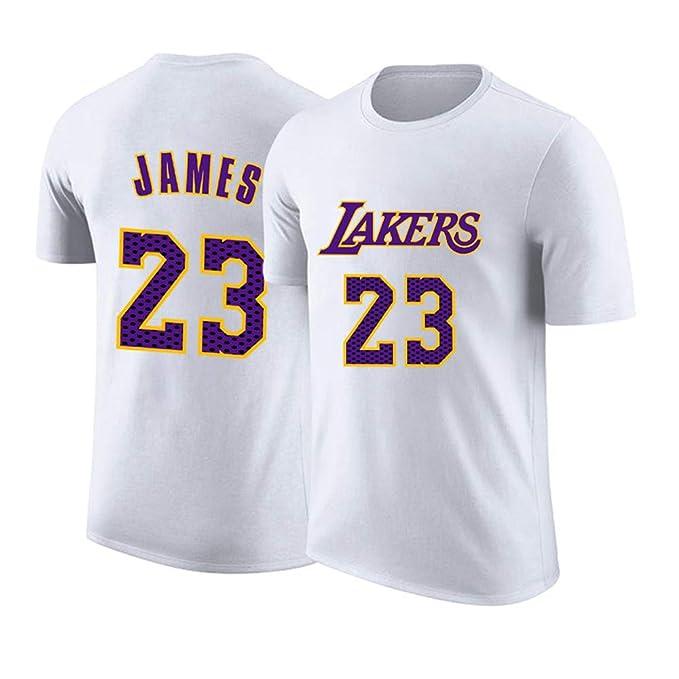 2019 All Star Los Ángeles Lakers Camiseta con El Número 23 De James Baloncesto De La NBA De Manga Corta Camiseta: Amazon.es: Ropa y accesorios