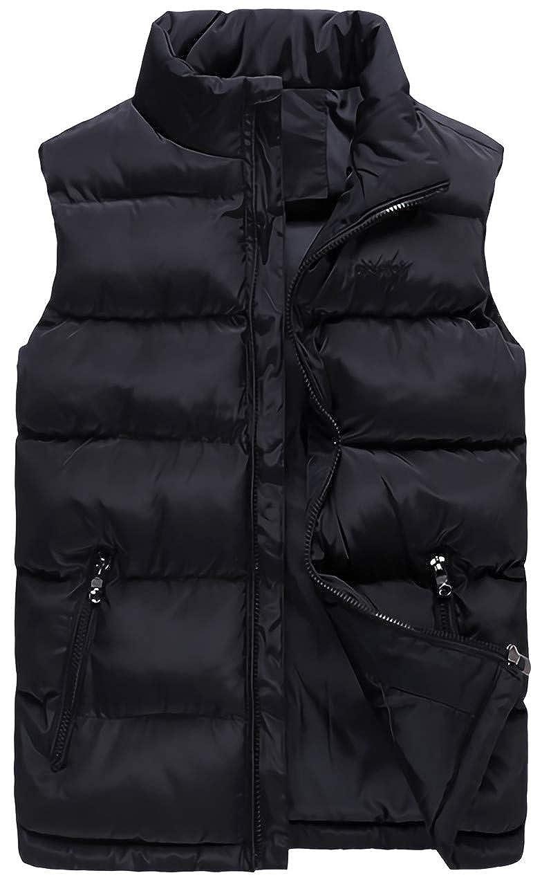 Kwiten Mens Lightweight Down Vest Padded Sleeveless Jacket Winter Puffer Vest