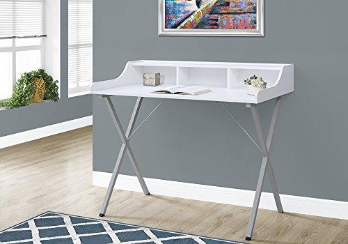 """Price comparison product image Monarch Computer Desk - 48""""L / White / Silver Metal"""