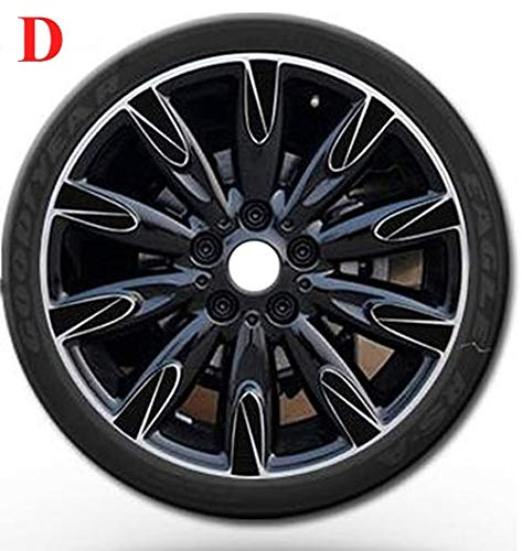 D Carbon Fiber Wheel Hub Stickers Decorations for Cooper Countryman R55 R56 R57 R58 R59 R50 R52 R53 R60 Car Styling  (color Name  K)