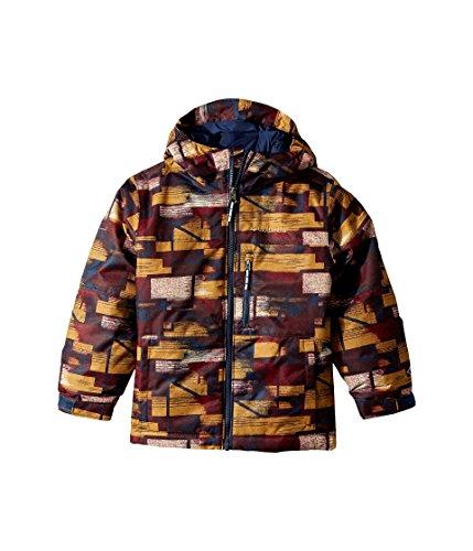 Columbia Kids Boy's Magic Mile Jacket (Little Kids/Big Kids) Collegiate Navy Brushed Geo Plaid Medium