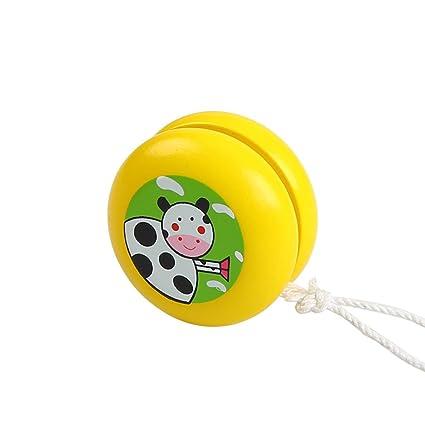 Amazon.com: Clásico juguetes de los niños madera color YoYo ...