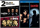 4 Film Collection Goodfellas / Casino / The Departed + Carlito's Way DVD Crime Gang Bundle