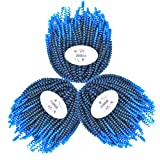 MSBELLE 3 Packs/lot Spring Twist Crochet Braiding Hair Extensions 10 Inch Kinky Curly Short Synthetic Crochet Braids Hair Ombre Color Mixing Black and Blue