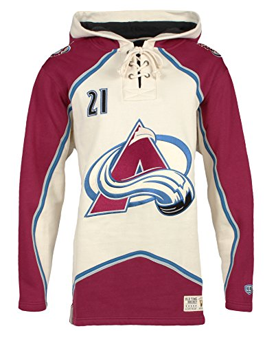 Fleece Colorado Avalanche Pullover (NHL Colorado Avalanche Peter Forsberg Men's Player Lacer Name & Number Hoodie, XX-Large,)