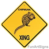 Chipmunk Crossing Xing Sign