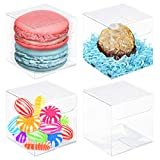 VGoodall Clear Favor Boxes,100pcs Plastic Gift