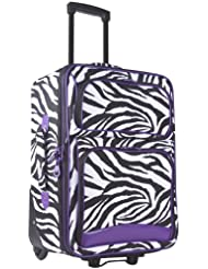 Ever Moda Purple Zebra 20-inch Expandable Carry On Rolling Luggage