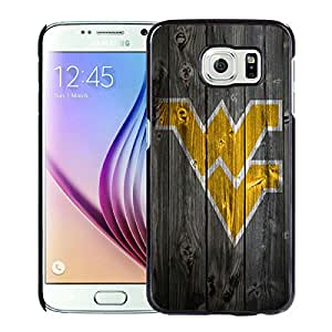 NCAA West Virginia Mountaineers 7 Black Hard Shell Phone Case For Samsung Galaxy S6