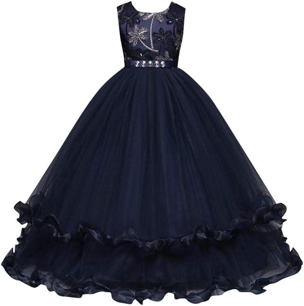 Amazon.com: Moonker Girls Princess Wedding Dress 6-6 Years Old