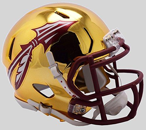Riddell NCAA Florida State Seminoles Unisex Florida State Seminoles Helmet Replica Mini Speed Style Chrome Alternatehelmet Replica Mini Speed Style Chrome Alternate, Team Colors, One Size