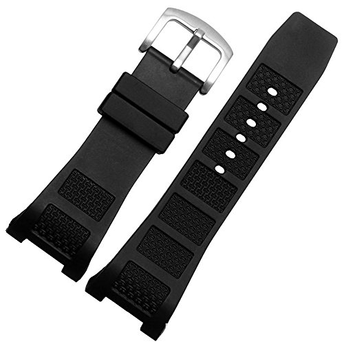 Choco&Man US IWC Ingenieur Replacement Watch Band Rubber Belt Silicone mounting Width 30mm with Tool (Black (Steel Buckle), -