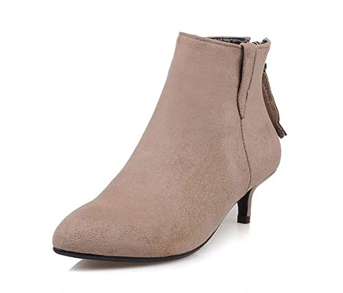 Mujer Botas De Boda 2018 Otoño Invierno Cremallera Botines Moda Tacón Bajo Martin Botas: Amazon.es: Zapatos y complementos