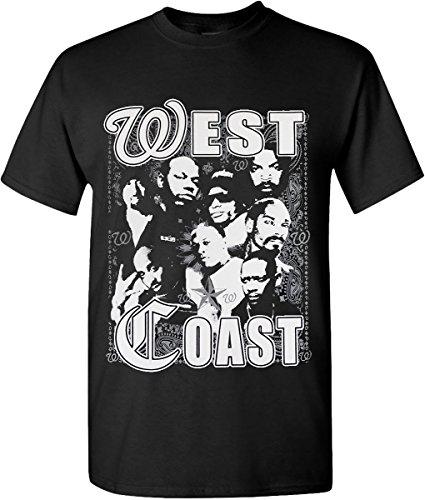 Hip Hop Legend Graphic T-shirts Westside Coast Rappers (Medium)