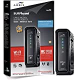 ARRIS SURFboard SBG6580 DOCSIS 3.0 Cable Modem/ Wi-Fi N600 Router - Retail Packaging - Black