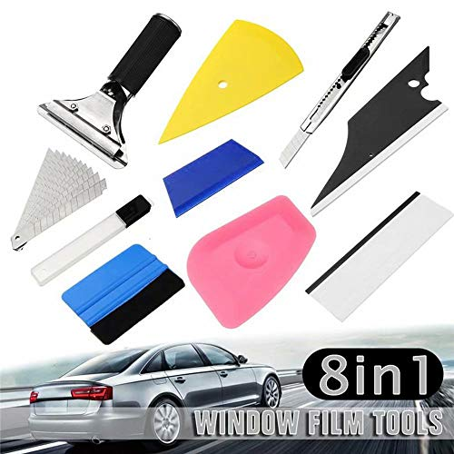 KingFurt 8in1 Vehicle Glass Protective Film Car Window Wrapping Tint Vinyl Installing Tool - Squeegees, Scrapers, Film Cutters