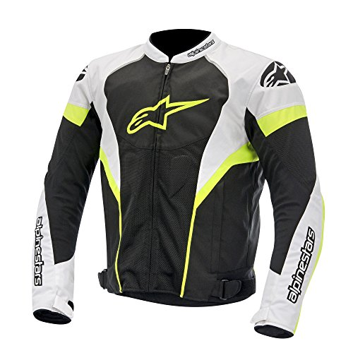 Alpinestars T-GP Plus R Air Textile Motorcycle Jacket Black/White/Fluorescent Yellow Large 3300614-125-L