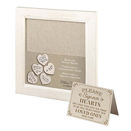 Lillian Rose Small Guest Signing Hearts Frame, Multi (Drop Frame)