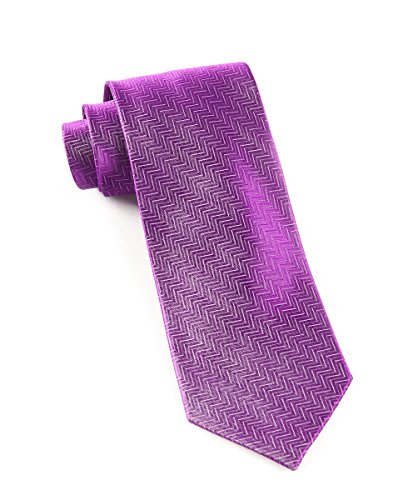 - The Tie Bar 100% Woven Silk Solid Plum Herringbone Tie