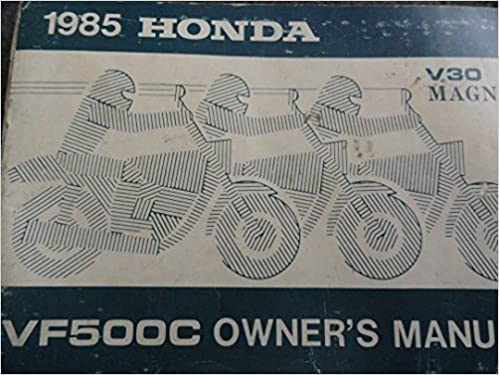 1985 Honda VF500 Owners Manual VF 500 C V30 Magna: Honda ...