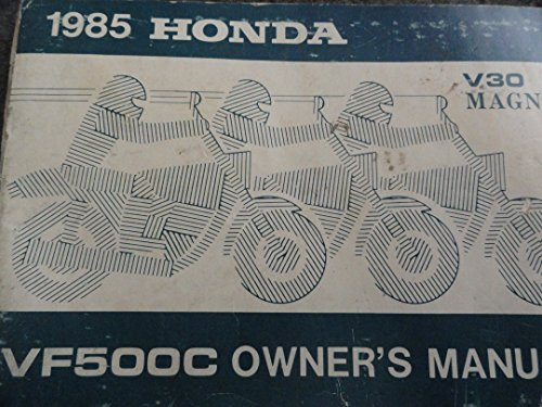 1985 Honda VF500 Owners Manual VF 500 C V30 Magna (Magna V30)