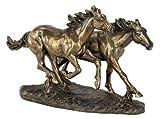 "Horses Running Wild 8 1/2"" High Statue"