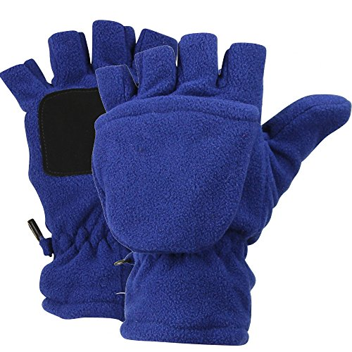 Womens Fleece Fingerless Convertible Mittens