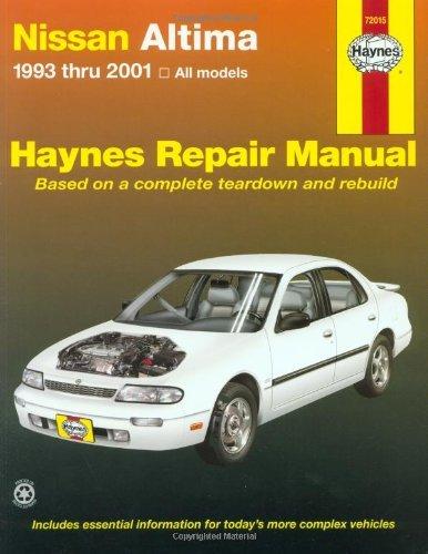 Nissan Altima, 1993-2001 (Haynes Automotive Repair Manual Series) by Chilton - Altima Mall